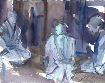 Japan trip No.27, limited edition 50 fine art giclee prints from my original watercolor