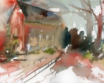 Worcester Sketchbook No.27, limited edition of 50 fine art giclee prints from my original watercolor