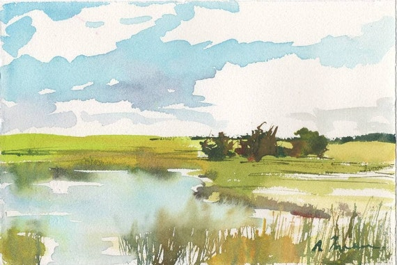 Marsh No.78, limited edition of 50 fine art giclee prints