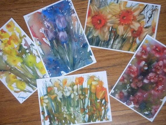 Five 5x7 blank fine art post cards