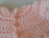 Pink Corchet Baby Dress
