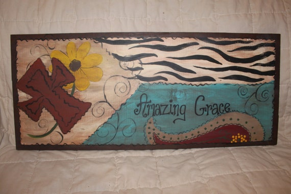 Items Similar To Country Rustic Wall Decor Turquoise And