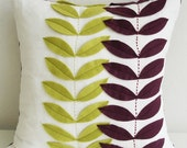Plant Linen Pillow cover -  16x16