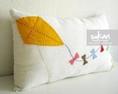 Kite - Linen Pillow cover - 12x20