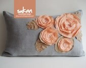 Sukan / Flowers Pillow Cover - 12x20