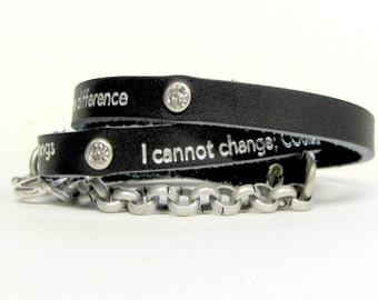Serenity Prayer Bracelet / Inspirational Jewelry / Spiritual Jewelry / Serenity Prayer Jewelry / Recovery Jewelry