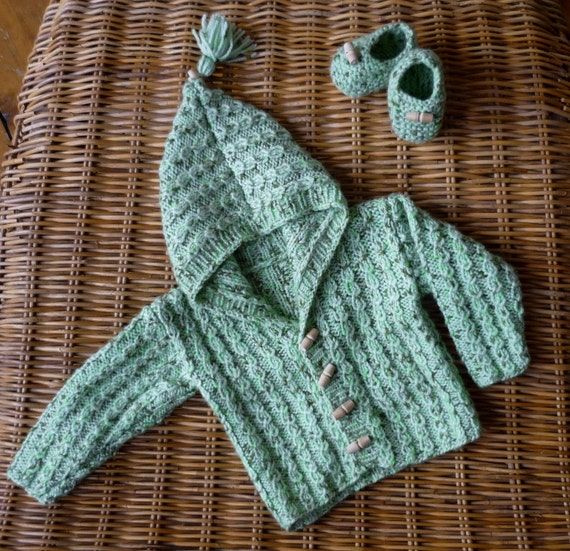 Baby Boy Hooded Cardigan Set