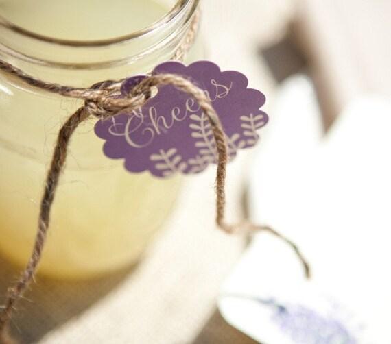 DIY Lavender Drink Tags