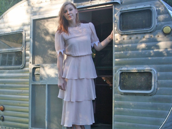 Tiered Blush Dress