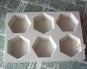 Hexagon Shape / 6 in 1 / Silicone Soap Mold ( Soap Republic )