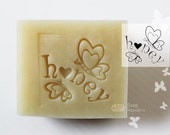 Honey / Acrylic Soap Stamp ( Soap Republic )