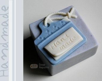 Handmade Tag with Hemp Cord Silicone Soap Mold ( Soap Republic )