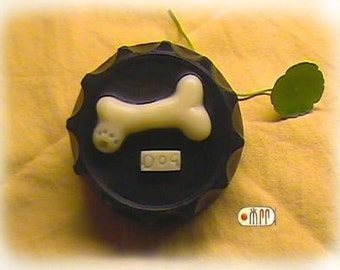 Dog Bone in Bottle Cap Silicone Soap Mold ( Soap Republic )