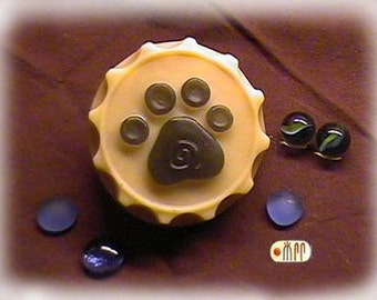 Dog Paw in Bottle Cap Silicone Soap Mold ( Soap Republic )