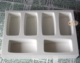 Rectangular Shape / 6 in 1 / Silicone Soap Mold ( Soap Republic )