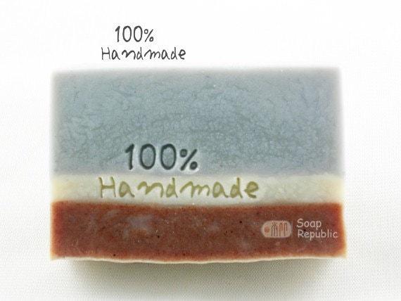 100% Handmade / Acrylic Soap Stamp ( Soap Republic )