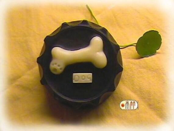 Dog Bone in Bottle Cap Silicone Soap Mold ( Soap Republic )