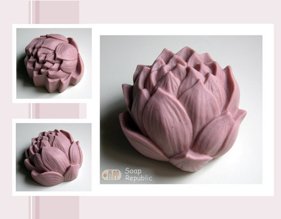 Graceful Lotus Silicone Soap Mold ( Soap Republic )