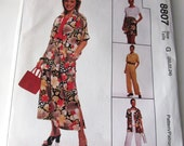 Easy McCalls 8807 Wardrobe Jacket, Top, Dress, Skirt  Pants Size G 20 22 24 Bust 42 44 46