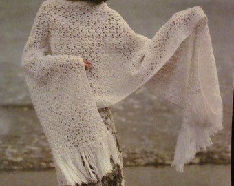 Bernat The Great Cover Up by Bernat Book No. 238 Knit and Crochet 11 Patterns 1978 Gorgeous Shawls