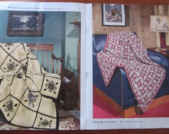 40s Afghans Book No 239 by Chadwicks Red Heart Wools booklet Crochet Knit