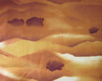 Nature's Glory by Moda Golden Brown Water Color Landscape Cotton Fabric 44 wide