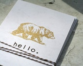 Set of 5 - Hello Bear Note Cards