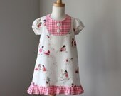 Spring Dress - Children at Play  - Sizes 12-18m, 18-24m, 2t, 3t, 4t, 5t