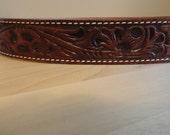 Hand Tooled Leather Belt