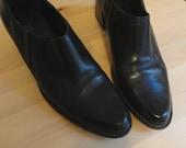Black Cowboy Ankle Boots