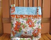Orange Floral Crossover Bag