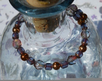 Copper Canyon - Copper and Purple Beaded Bracelet