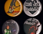 JOAN JETT Pins Buttons Badges Blackhearts the Runaways rock n roll punk 1980s