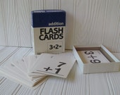 Vintage Box of Addition Math Flashcards