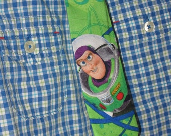 Green Buzz Lightyear Tie Boys