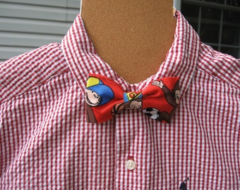 Clip On Curious George boys bowtie