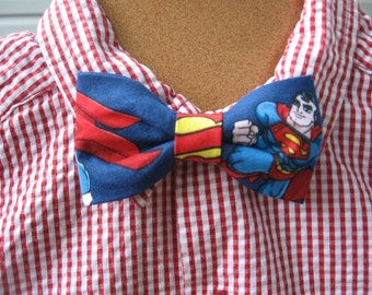 Superman boys clip on bowtie