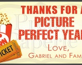 Teacher Gift Giving - Picture Perfect Year Gift Tags: Printable PDF