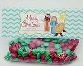 INSTANT Download-Christmas Treat Bag Tags: Nativity Scene - Printable PDF