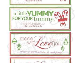 INSTANT Download-From the Kitchen Christmas Gift Tags/Labels-Printable PDF