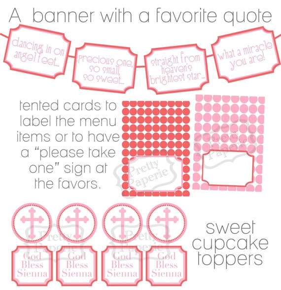 Printable BAPTISM PARTY Package - Customizable