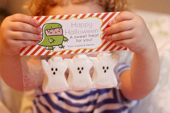 INSTANT Download-Happy Halloween Treat Bag Tags: Child Halloween - Printable PDF