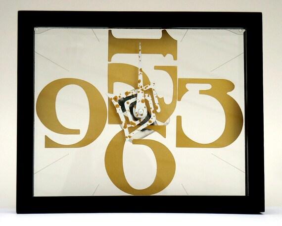 Ether Frame clock - Gold