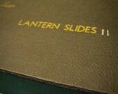 PHOTOGRAPHY VINTAGE FILM: 1930s-40s Leica Lantern Slide Box. Handwritten Label.