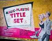 MAD MEN KITSCH: 1950s Magic Plastic Vinyl Title Set. Made for home moviemakers.