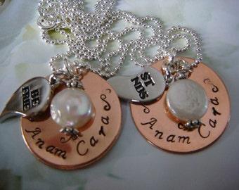 Best Friend Necklace - Anam Cara - Soul Friend (set of 2 necklaces)