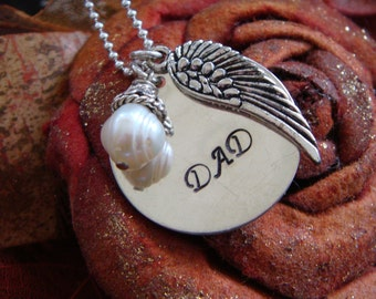 Remembrance Necklace - Dad Mom Grandpa Grandma Baby Loved One