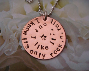 Rock & Roll Necklace - I know it's only rock n roll but I like it