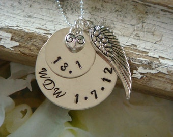 Sterling Silver Marathon Necklace - Wind Beneath My Wings
