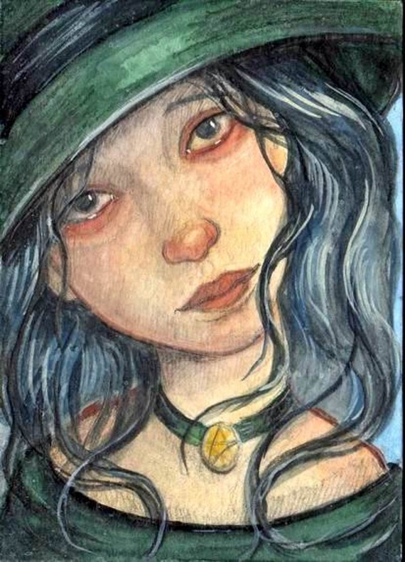 Original Aceo Halloween Witch
